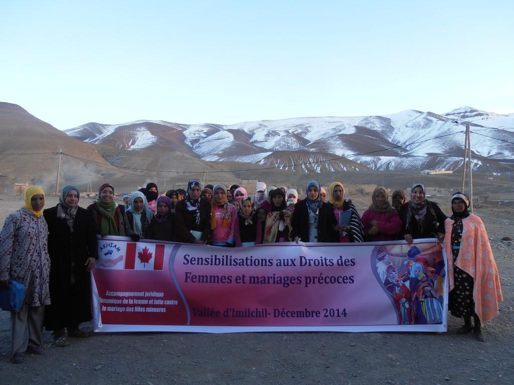 Projets d'accompagnement juridique des femmes et lutte contre les mariages des filles mineures